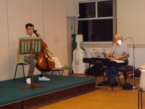 on the cello
