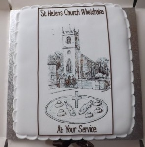 Ray had another birthday cake to share with the congregation on the Sunday morning